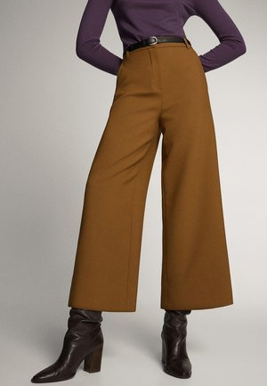 WIDE LEG CULOTTE 05046546 - Trousers - brown