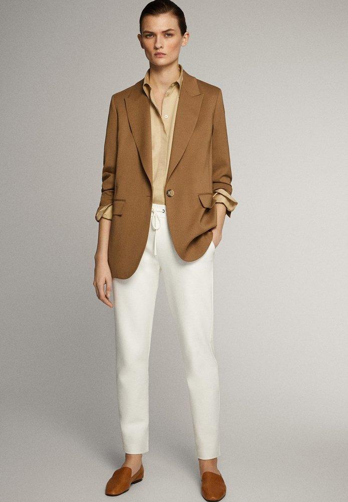 Massimo Dutti - JOGGERHOSE MIT BUND 05045679 - Pantaloni sportivi - white