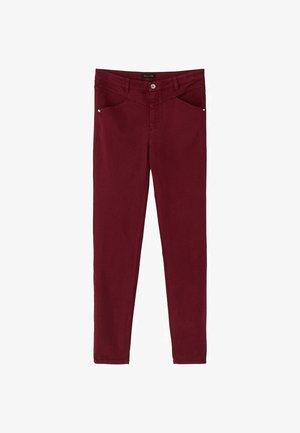 MIT STEPPNÄHTEN UND HALBHOHEM BUND  - Jeans Skinny Fit - red