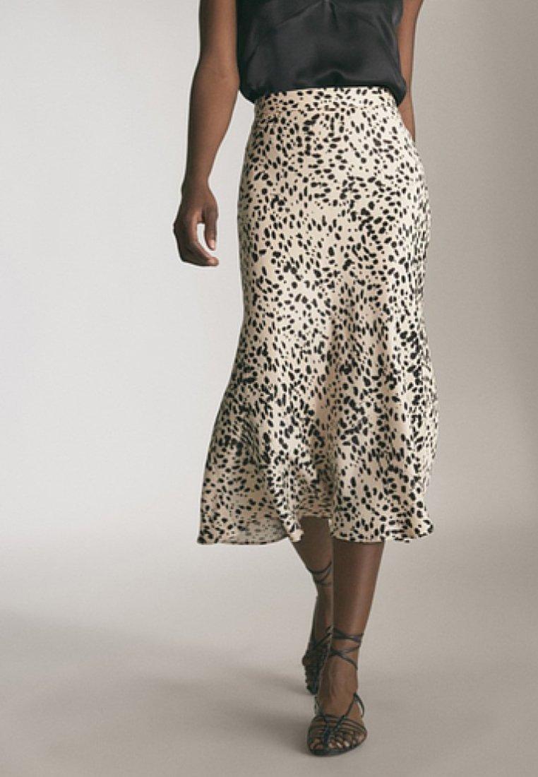 Massimo Dutti - MIT ANIMALPRINT - A-snit nederdel/ A-formede nederdele - beige