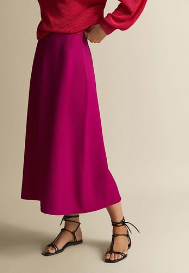 Massimo Dutti - A-line skirt - neon pink