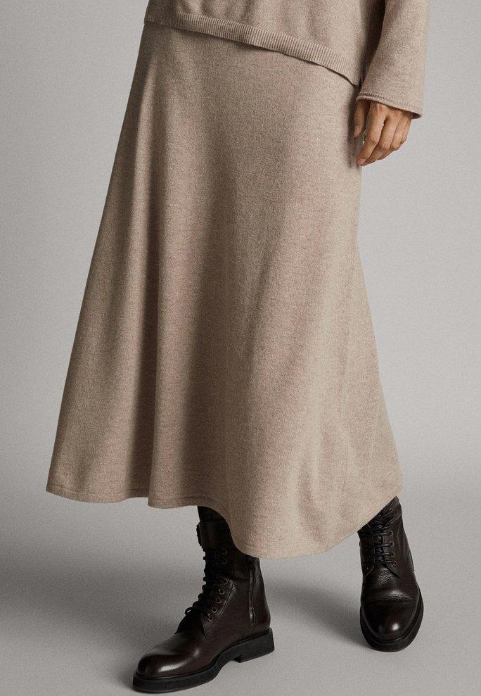 Massimo Dutti - A-line skirt - brown