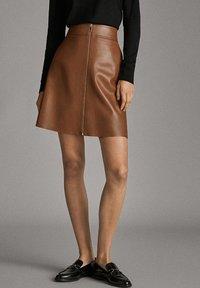 Massimo Dutti - A-line skirt - brown - 0