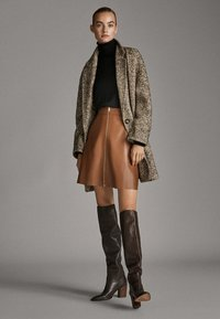 Massimo Dutti - A-line skirt - brown - 1