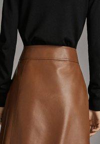 Massimo Dutti - A-line skirt - brown - 4