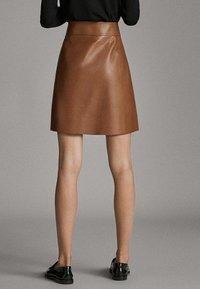 Massimo Dutti - A-line skirt - brown - 2