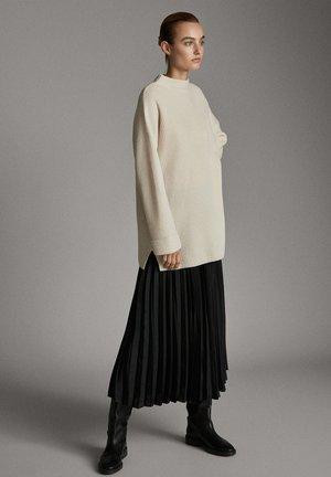 PLISSIERTER ROCK 05204524 - A-line skirt - black