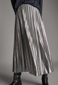Massimo Dutti - Pleated skirt - silver - 0