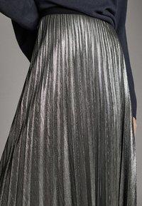 Massimo Dutti - Pleated skirt - silver - 4