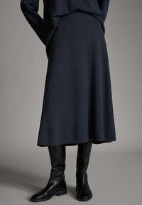 Massimo Dutti - Spódnica trapezowa - dark grey - 0