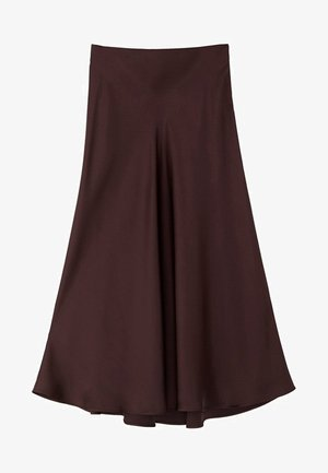 MIDIROCK MIT SATINEFFEKT 05207527 - A-line skirt - dark purple
