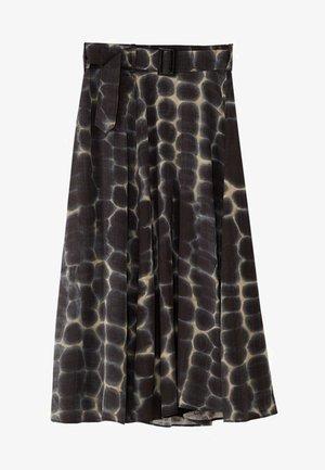 ROCK MIT FLECKENPRINT UND GÜRTEL 05212838 - A-line skirt - grey