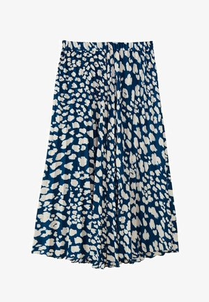 A-line skirt - blue-black denim