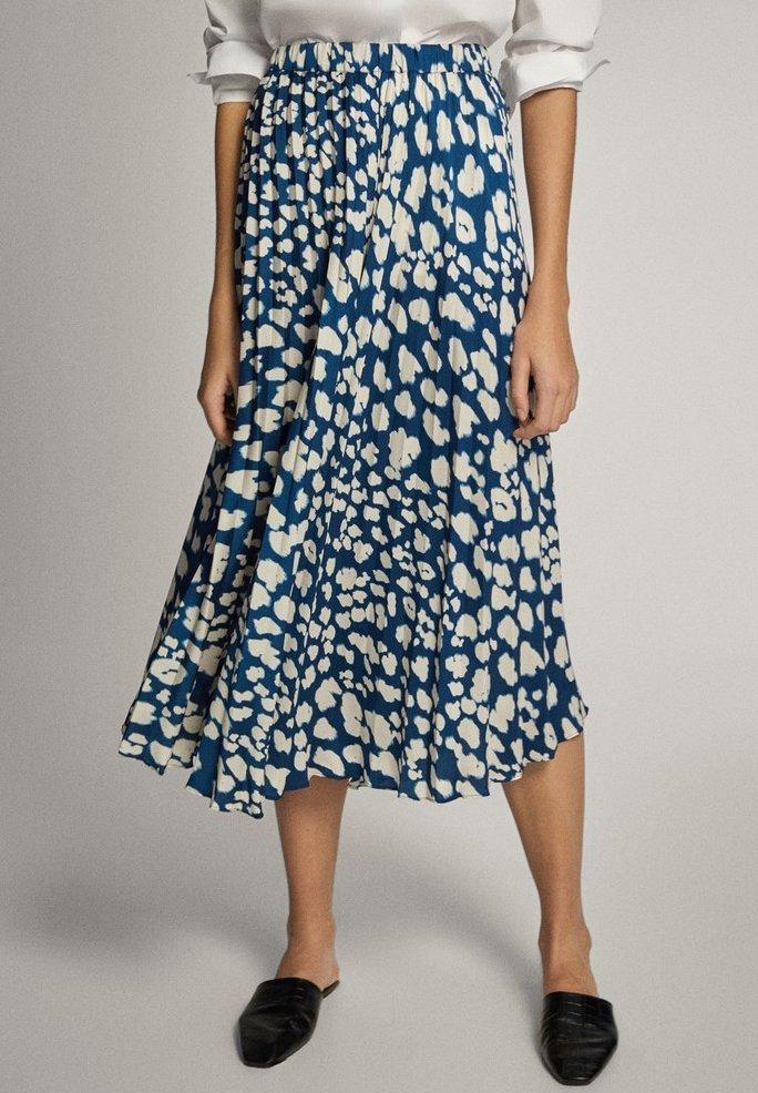 Massimo Dutti - A-line skirt - blue-black denim
