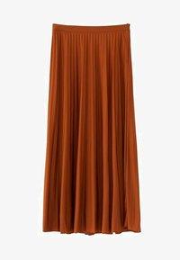 Massimo Dutti - PLISSIERTER ROCK 05223552 - Pleated skirt - brown - 5