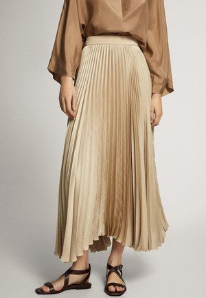 MIT BUND  - Pleated skirt - gold