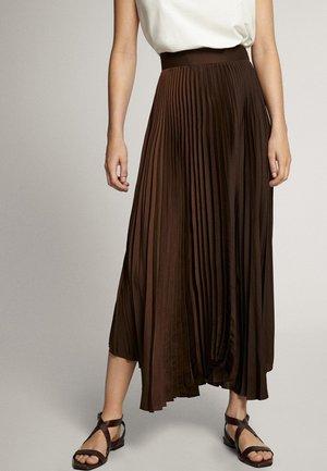 Veckad kjol - brown