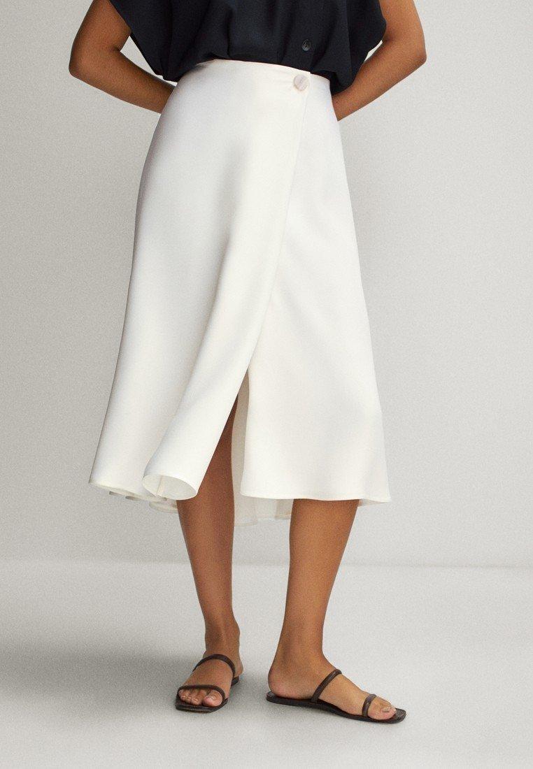 Massimo Dutti - FLIESSENDER - A-line skirt - white