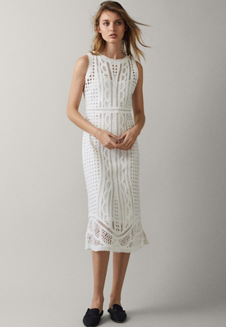Massimo Dutti - Cocktail dress / Party dress - white