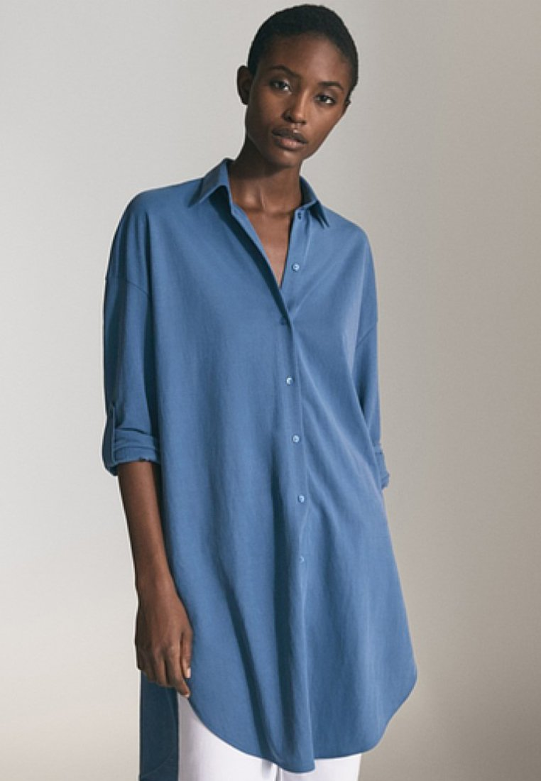 Massimo Dutti - Blusenkleid - blue