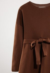 Massimo Dutti - MIT GÜRTEL  - Robe pull - brown - 2