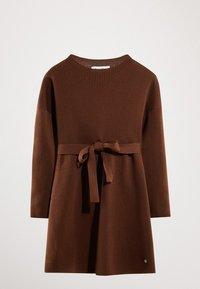 Massimo Dutti - MIT GÜRTEL  - Robe pull - brown - 6