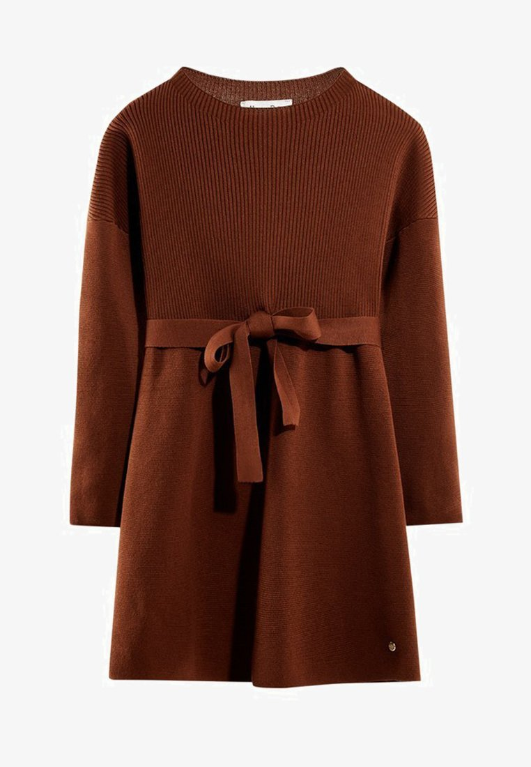 Massimo Dutti - MIT GÜRTEL  - Robe pull - brown
