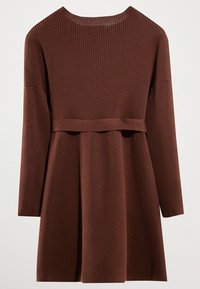 Massimo Dutti - MIT GÜRTEL  - Robe pull - brown - 1