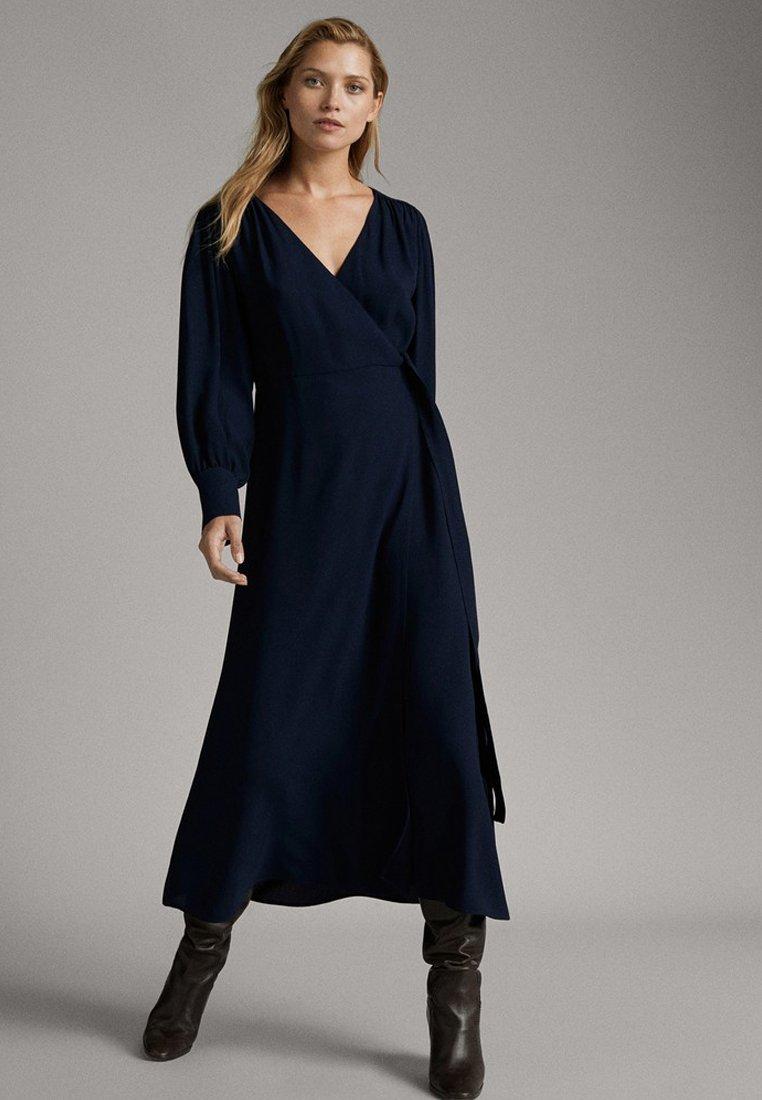 Massimo Dutti - Długa sukienka - dark blue