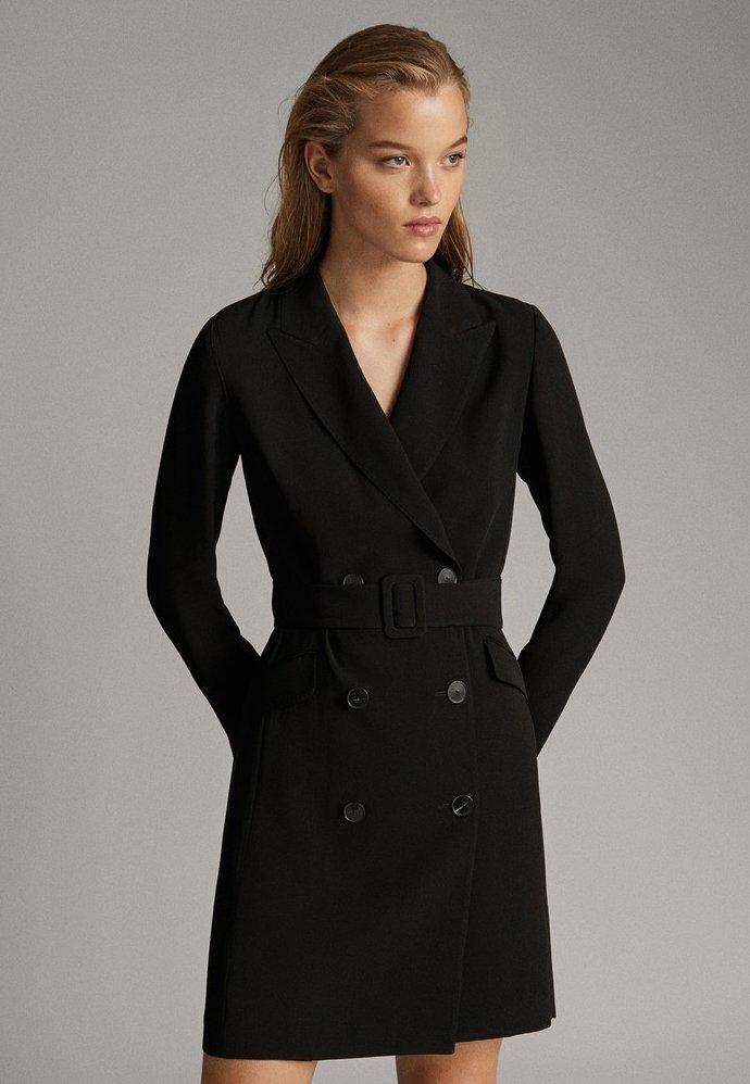 Massimo Dutti - Shirt dress - black