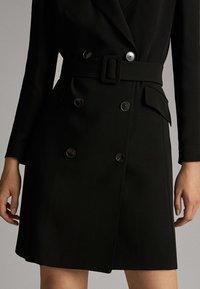 Massimo Dutti - Shirt dress - black - 5