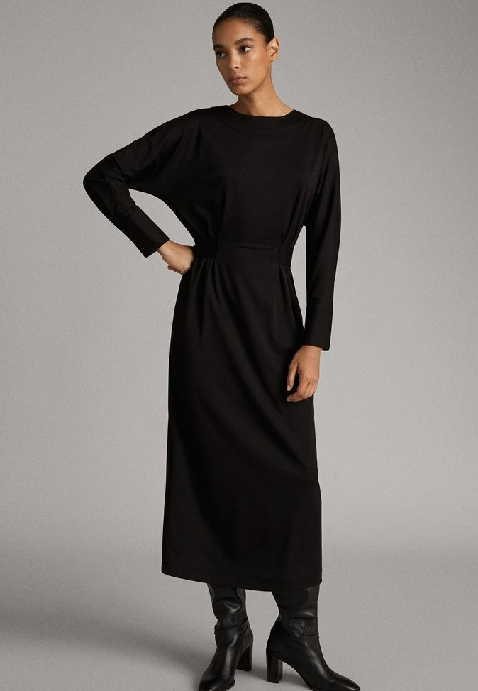 Massimo Dutti - MIT GÜRTEL - Day dress - black
