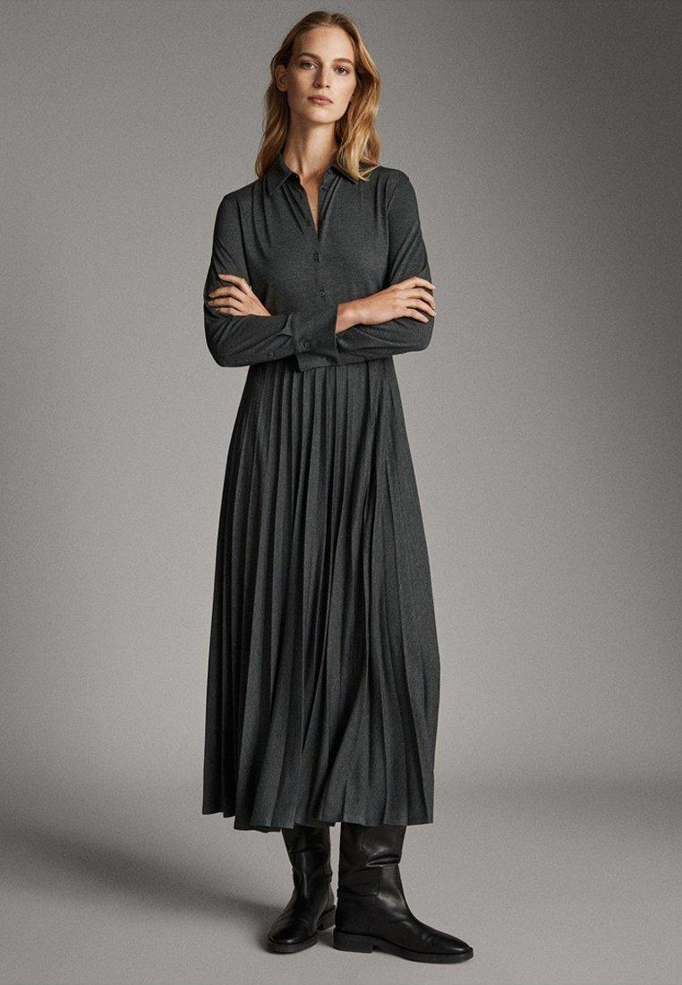 Massimo Dutti - Sukienka koszulowa - dark grey