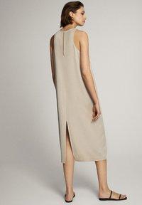 Massimo Dutti - MIT NECKHOLDER - Sukienka letnia - beige - 2