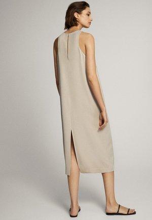 MIT NECKHOLDER - Sukienka letnia - beige