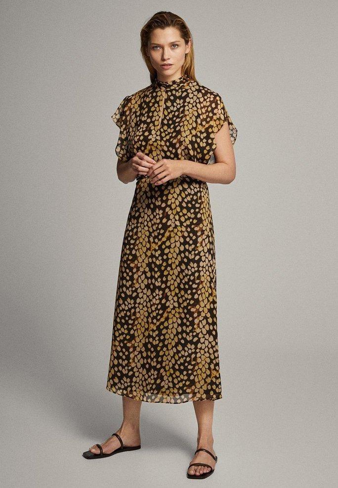 Massimo Dutti - MIT FLECKEN-PRINT - Sukienka letnia - yellow