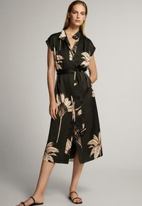 Massimo Dutti - MIT PALMENPRINT  - Skjortklänning - black - 1
