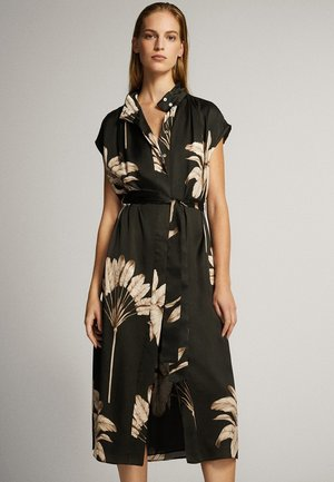 MIT PALMENPRINT  - Skjortklänning - black