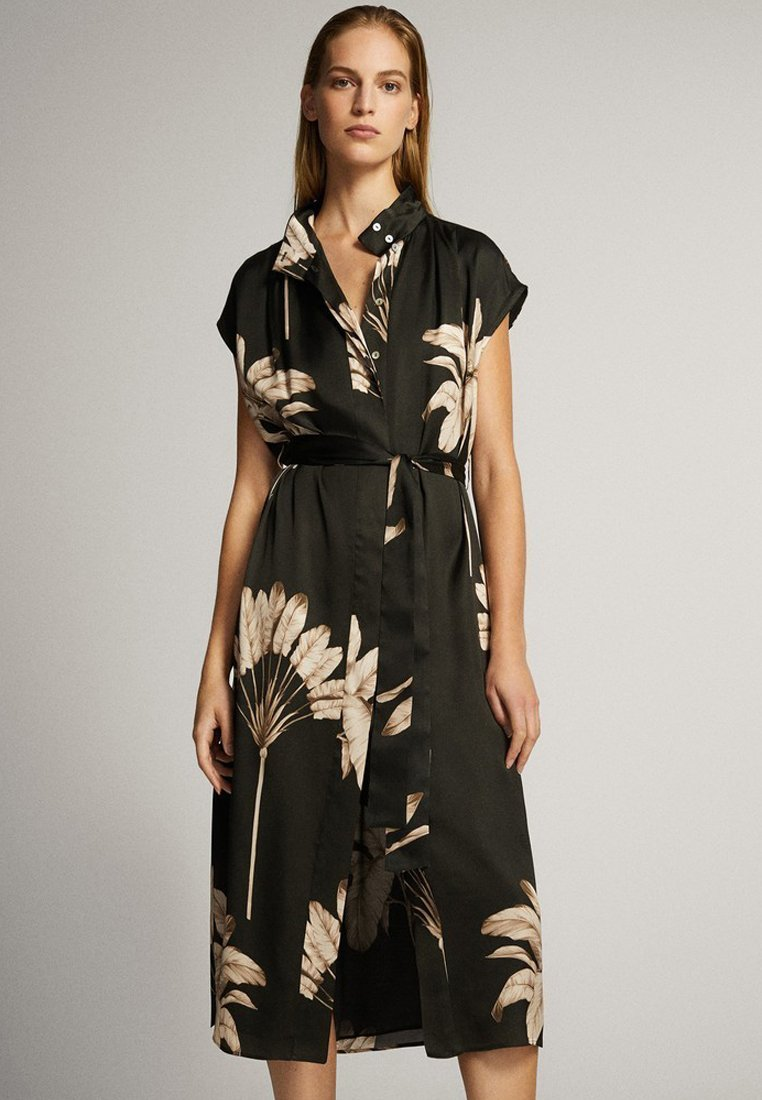 Massimo Dutti - MIT PALMENPRINT  - Skjortklänning - black