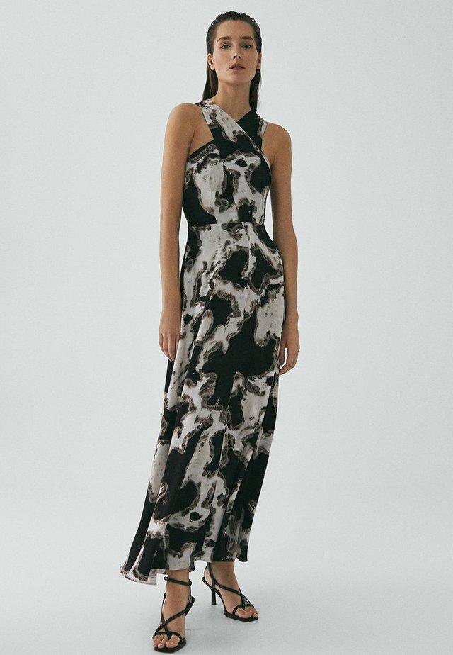 MIT SCHWARZ-WEISS-PRINT LIMITED EDITION - Korte jurk - black