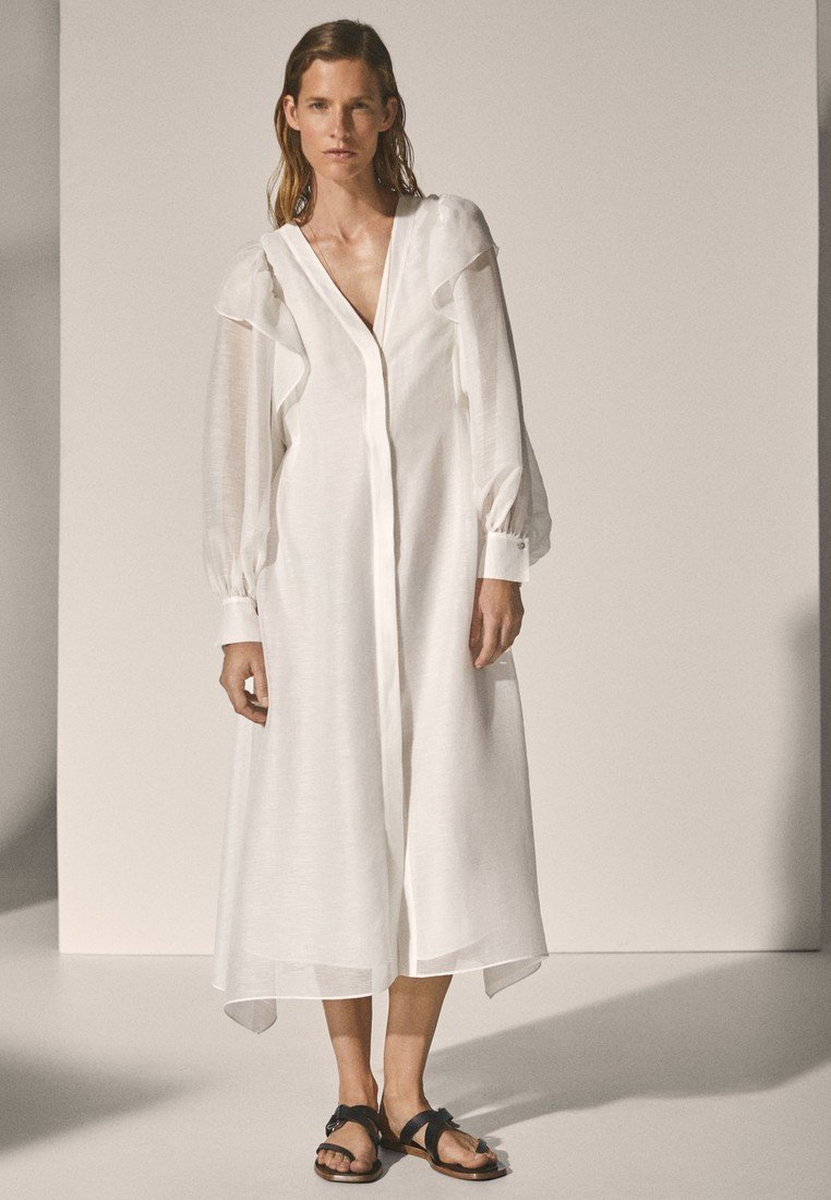 Massimo Dutti - Długa sukienka - white