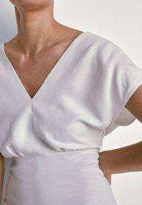 Massimo Dutti - Jersey dress - white - 4