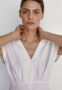 Massimo Dutti - Jersey dress - white - 2