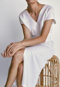 Massimo Dutti - Jersey dress - white - 3
