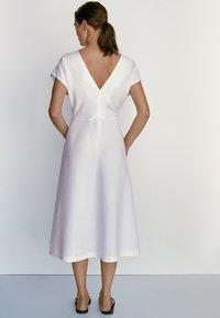 Massimo Dutti - Jersey dress - white - 6