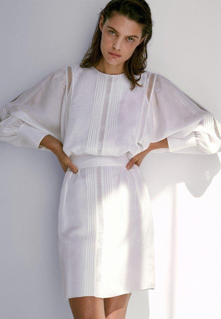 Massimo Dutti - Korte jurk - white