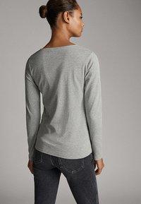 Massimo Dutti - BASIC - Long sleeved top - grey - 2