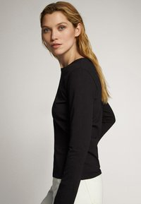 Massimo Dutti - Long sleeved top - black - 3
