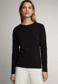 Massimo Dutti - Long sleeved top - black - 0