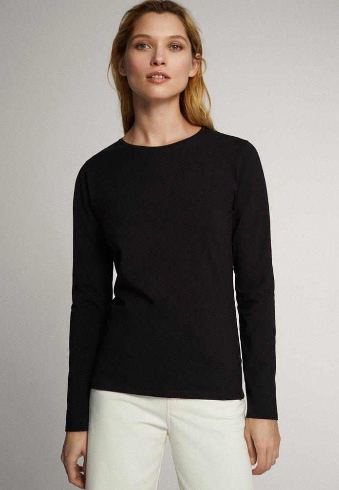 Massimo Dutti - Long sleeved top - black